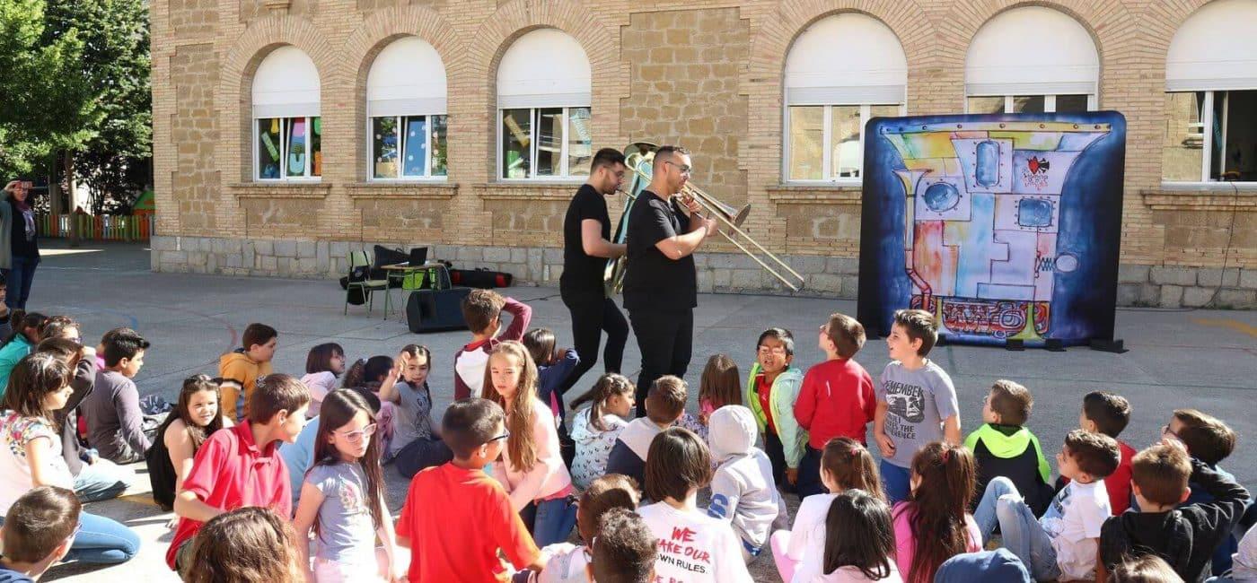La música clásica se cuela en los centros escolares de Haro 2