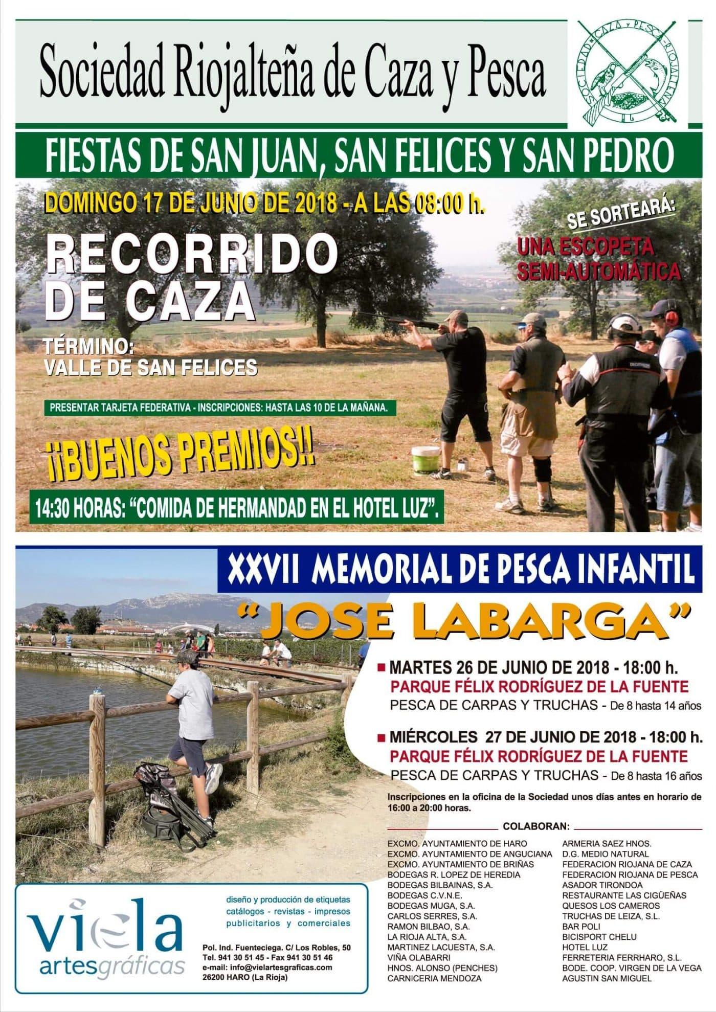 La Sociedad Riojalteña de Caza y Pesca ya tiene listo su programa para las fiestas de junio 1