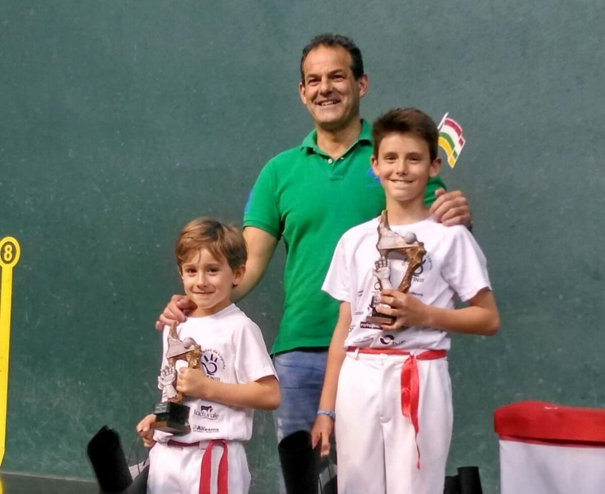 Sergio Nanclares y Raúl Pérez, campeones del Torneo Titín III de pelota 2