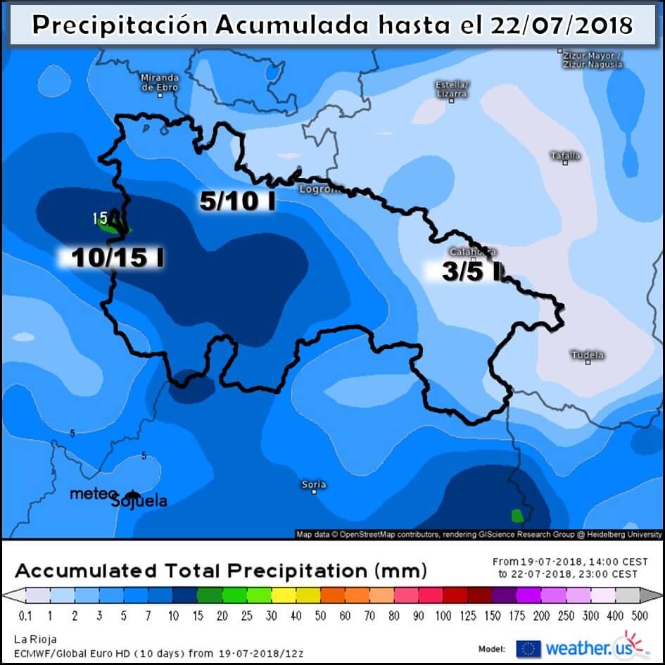 De nuevo tiempo inestable para el fin de semana en La Rioja Alta 1