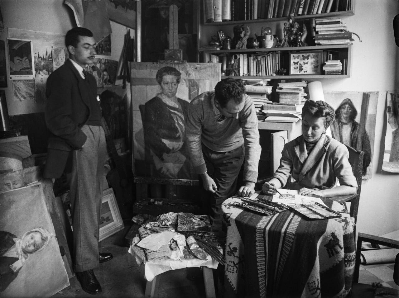 La Escuela de Patrimonio Histórico de Nájera acoge la exposición 'El taller del artista' 2