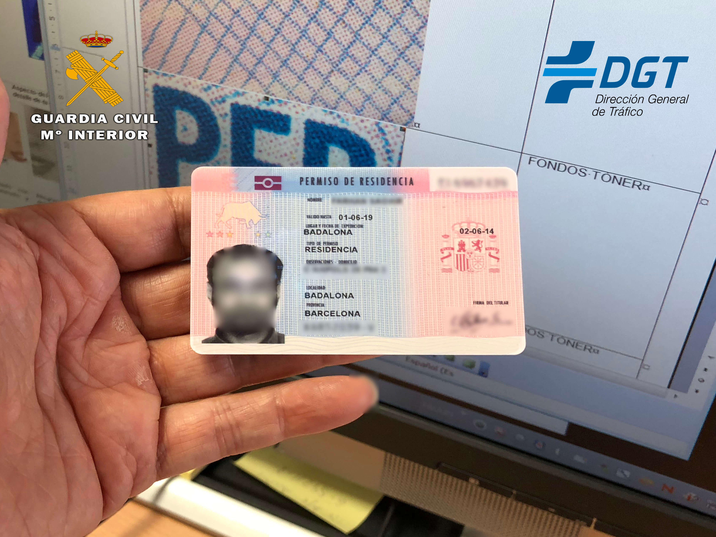 La Guardia Civil detiene a dos personas por suplantar la identidad de otras dos en el examen del permiso de conducir 1