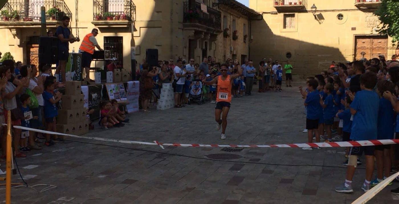 Ángel Martínez y Carmen Riaño, ganadores en la 'Subida al Bolo' de Cuzcurrita de Río Tirón 2