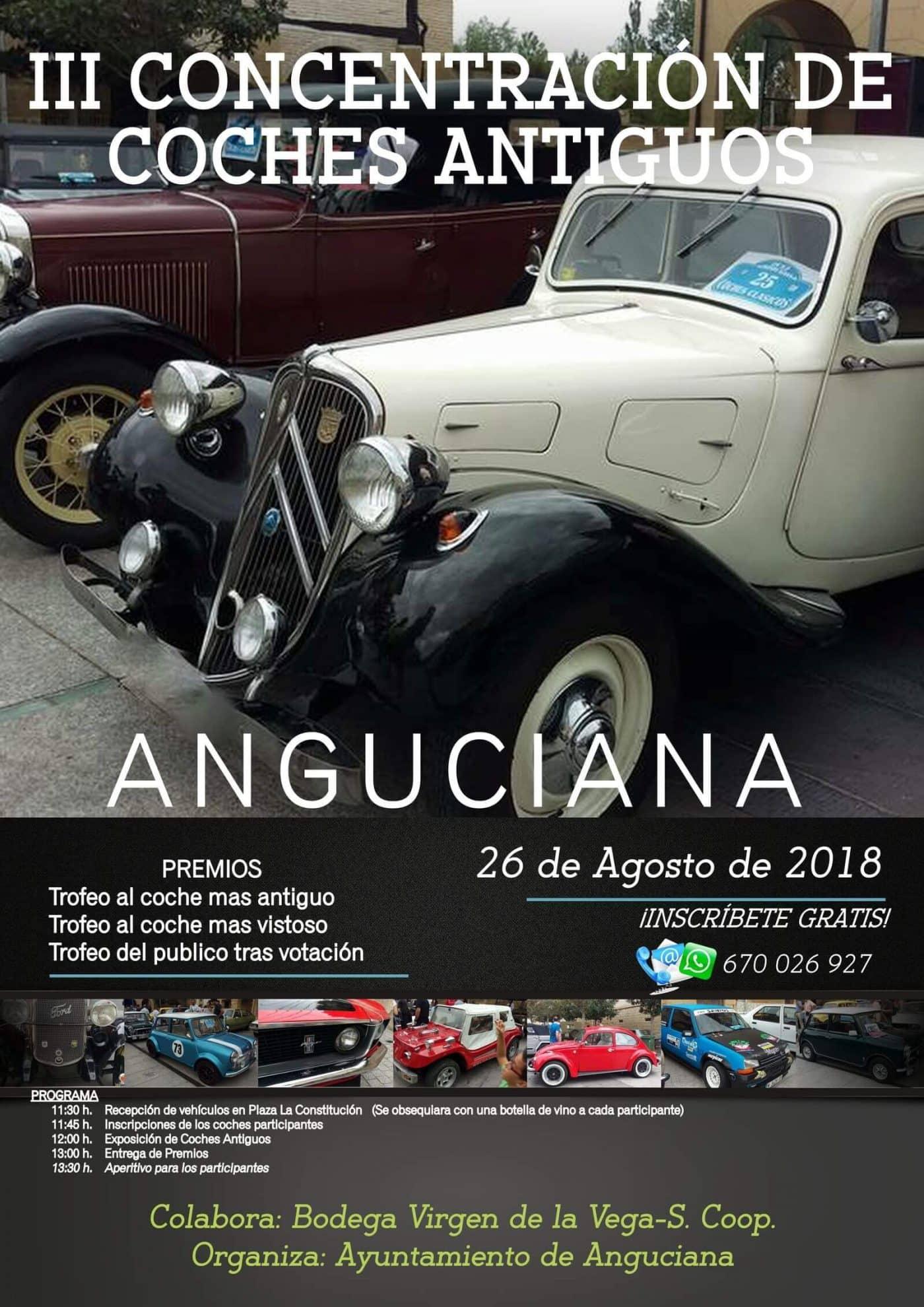 La III Concentración de Coches Antiguos de Anguciana se celebrará el próximo 26 de agosto 1