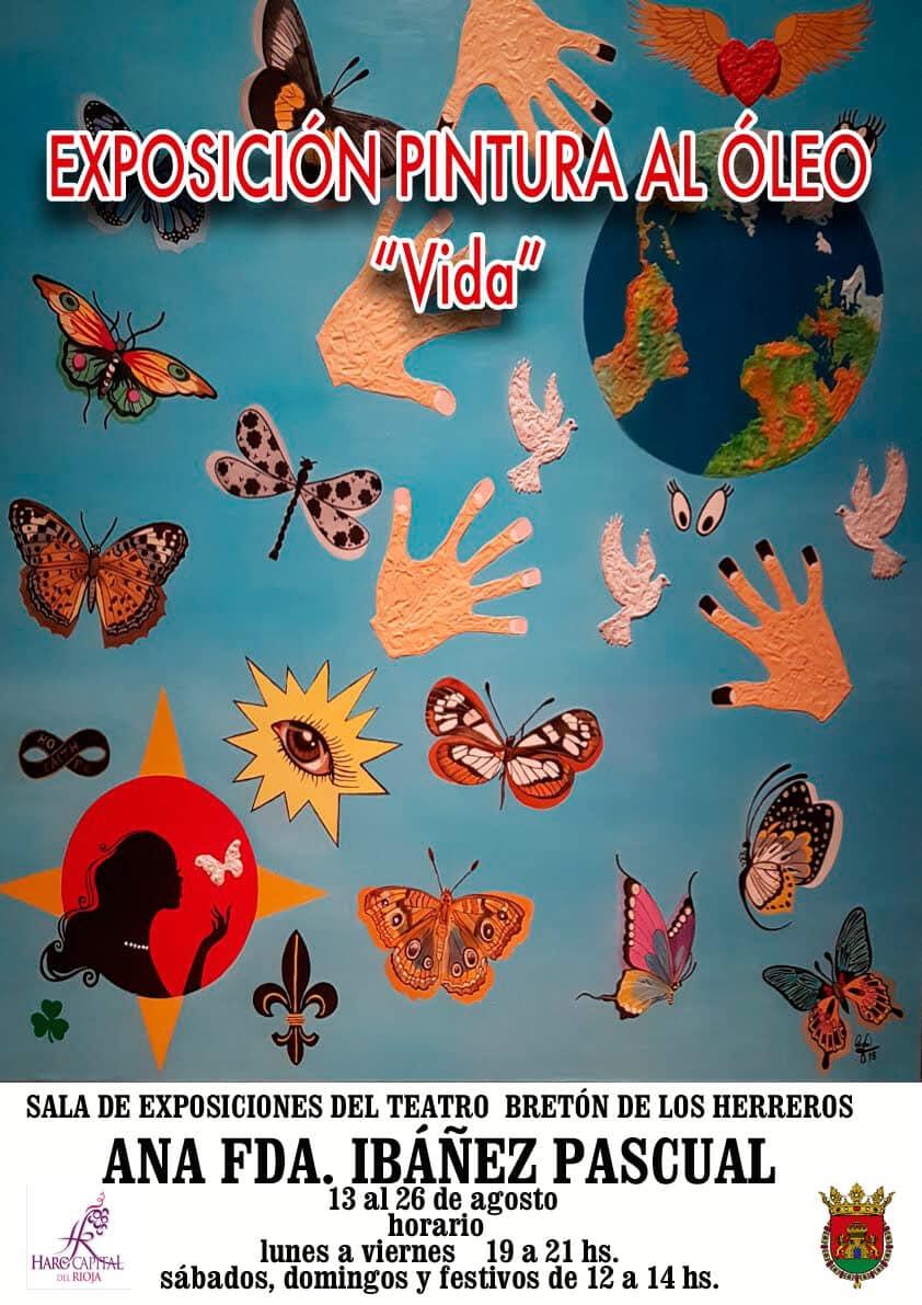 La muestra 'Vida' de Ana Fernanda Ibáñez, en la Sala de Exposiciones del Bretón desde el lunes 1
