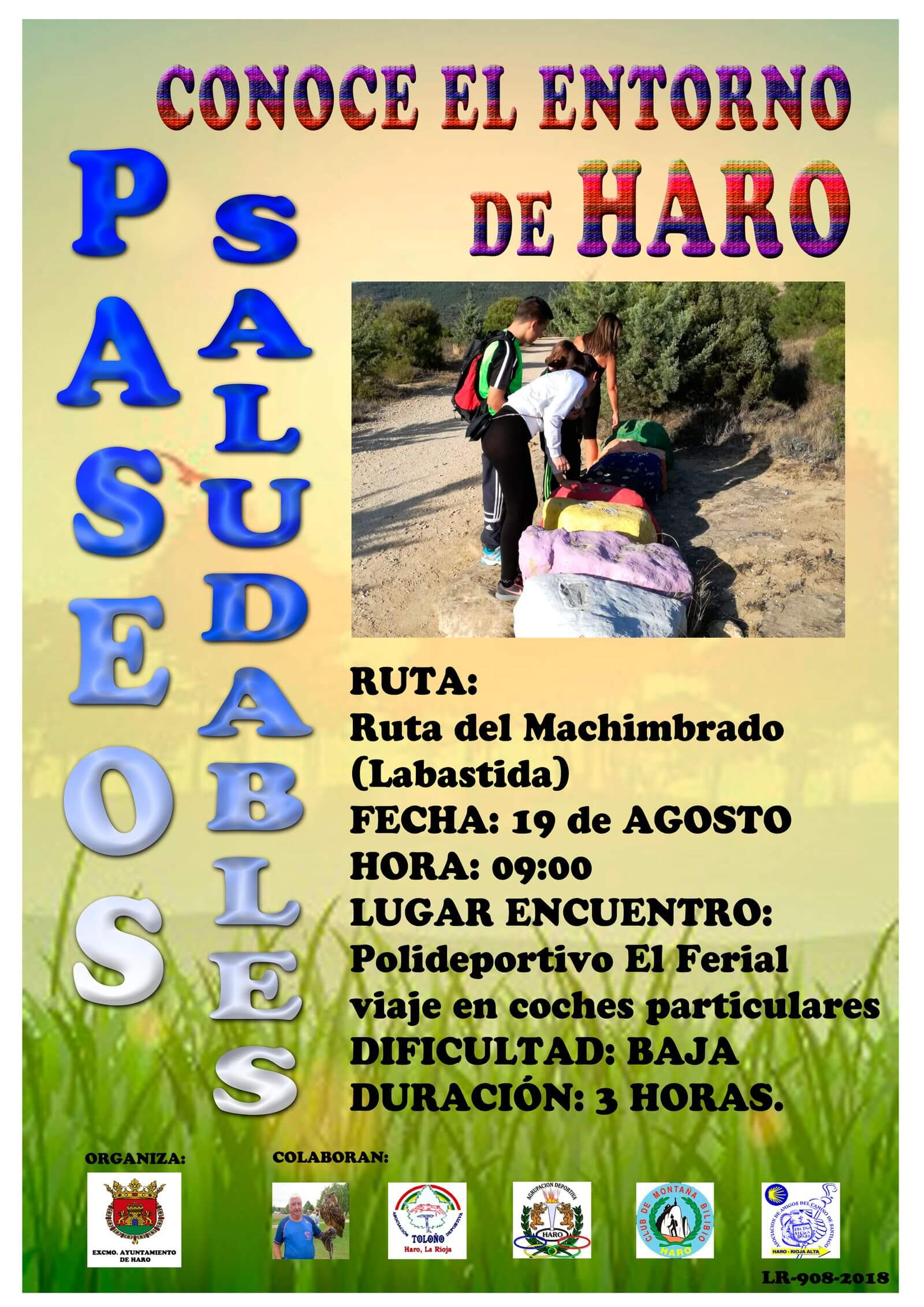 Los Paseos Saludables llegan este domingo a Labastida con un recorrido por el Machimbrado 1