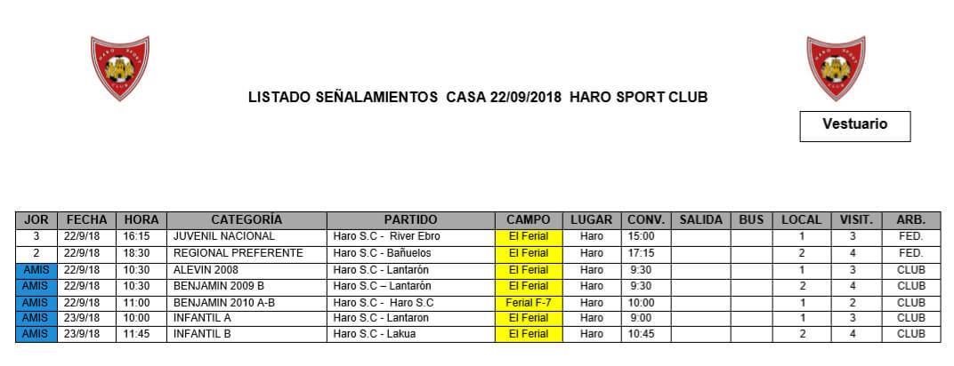 El Ferial acoge este sábado dos partidos oficiales del Haro Sport Club 1