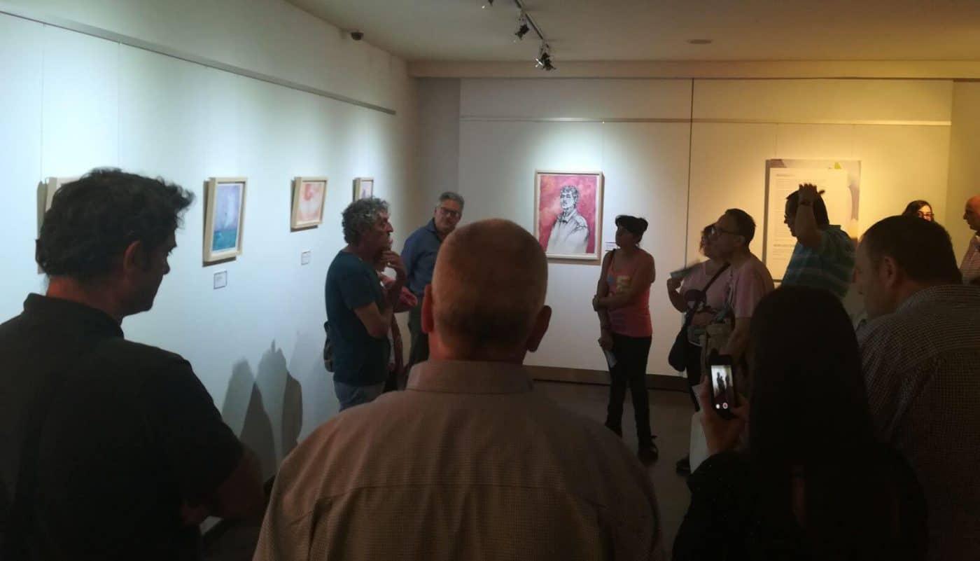 Inaugurada en el Torreón la exposición 'Con Agua de Rioja' de Antonio Montiel 1