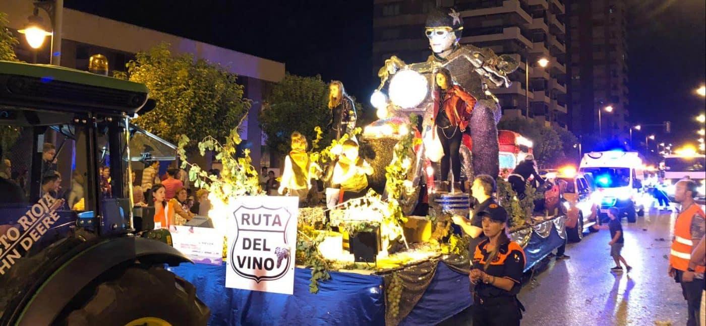 La carroza del Consejo de la Juventud de Haro, segundo premio en el Desfile de San Mateo 4