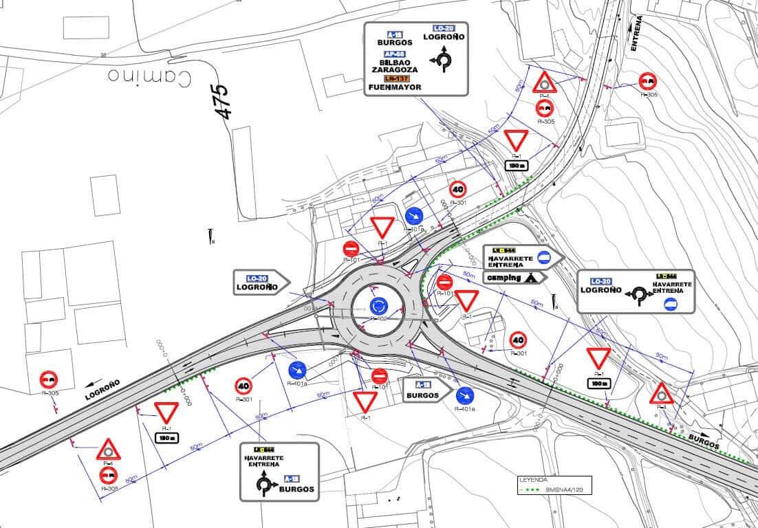 Una rotonda para incrementar la seguridad vial en el principal acceso a Navarrete 1