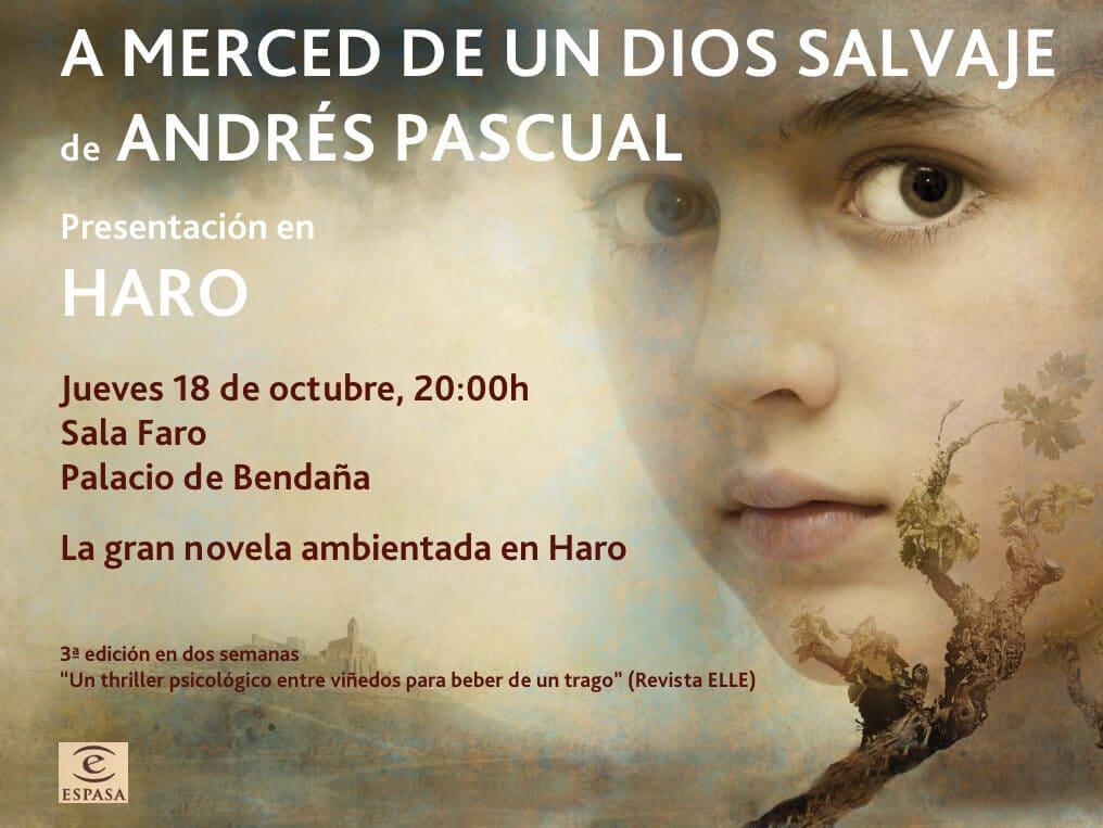 'A merced de un dios salvaje', lo nuevo de Andrés Pascual se presenta este jueves en Haro 1