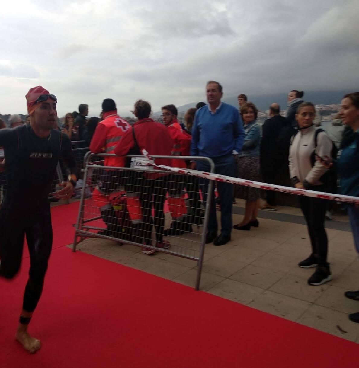 Darío Pérez, tercero en el Santander Triathlon Series Getxo en medio del temporal 3