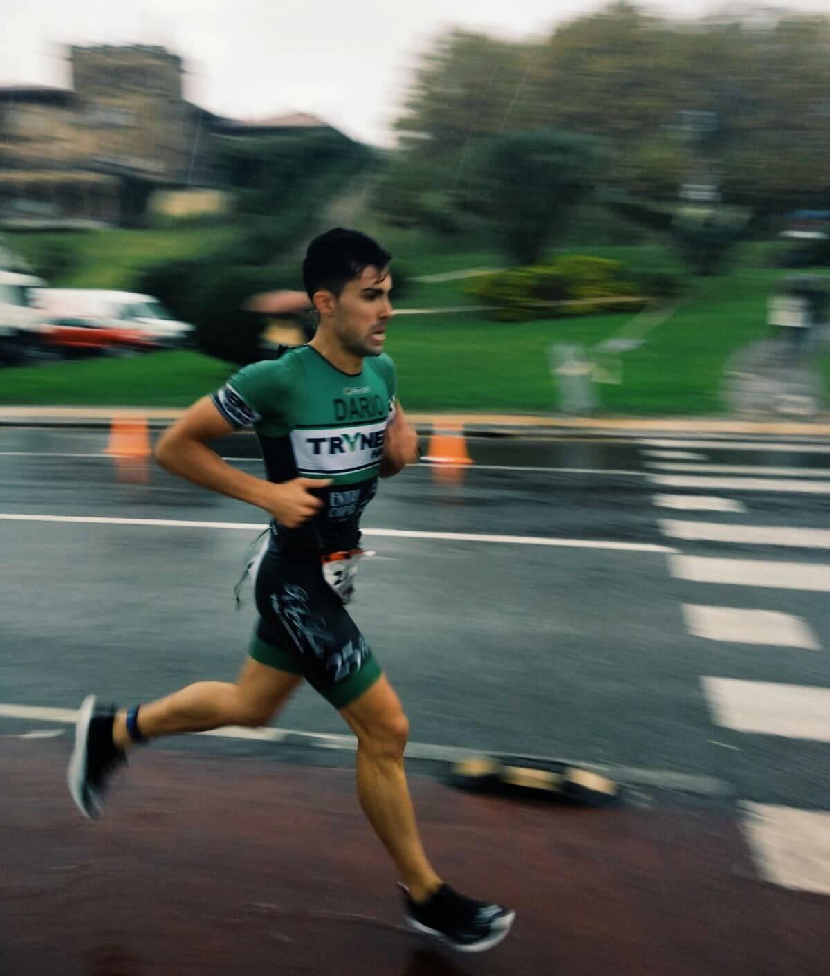 Darío Pérez, tercero en el Santander Triathlon Series Getxo en medio del temporal 4