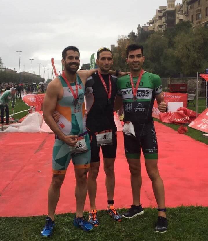 Darío Pérez, tercero en el Santander Triathlon Series Getxo en medio del temporal 5
