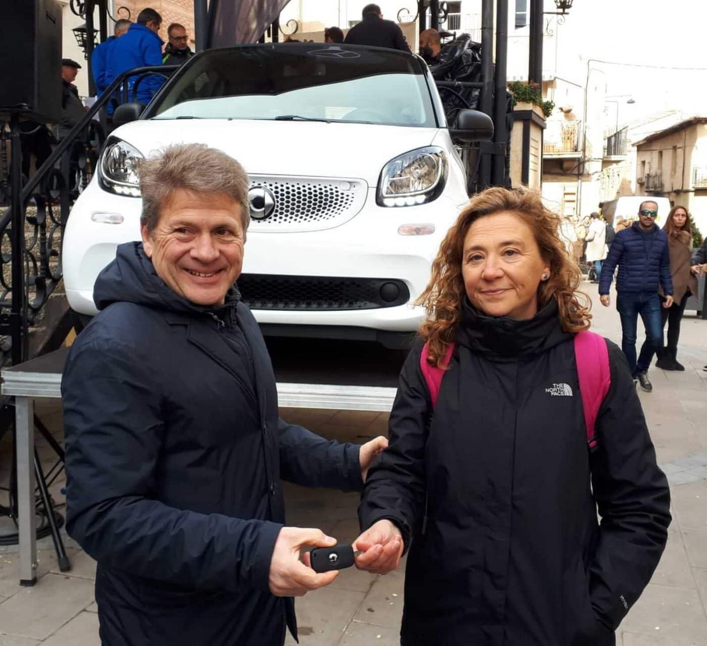 David Martínez y Paula Sanz del Río, ganadores de la Carrera Entre Viñedos Smart 3