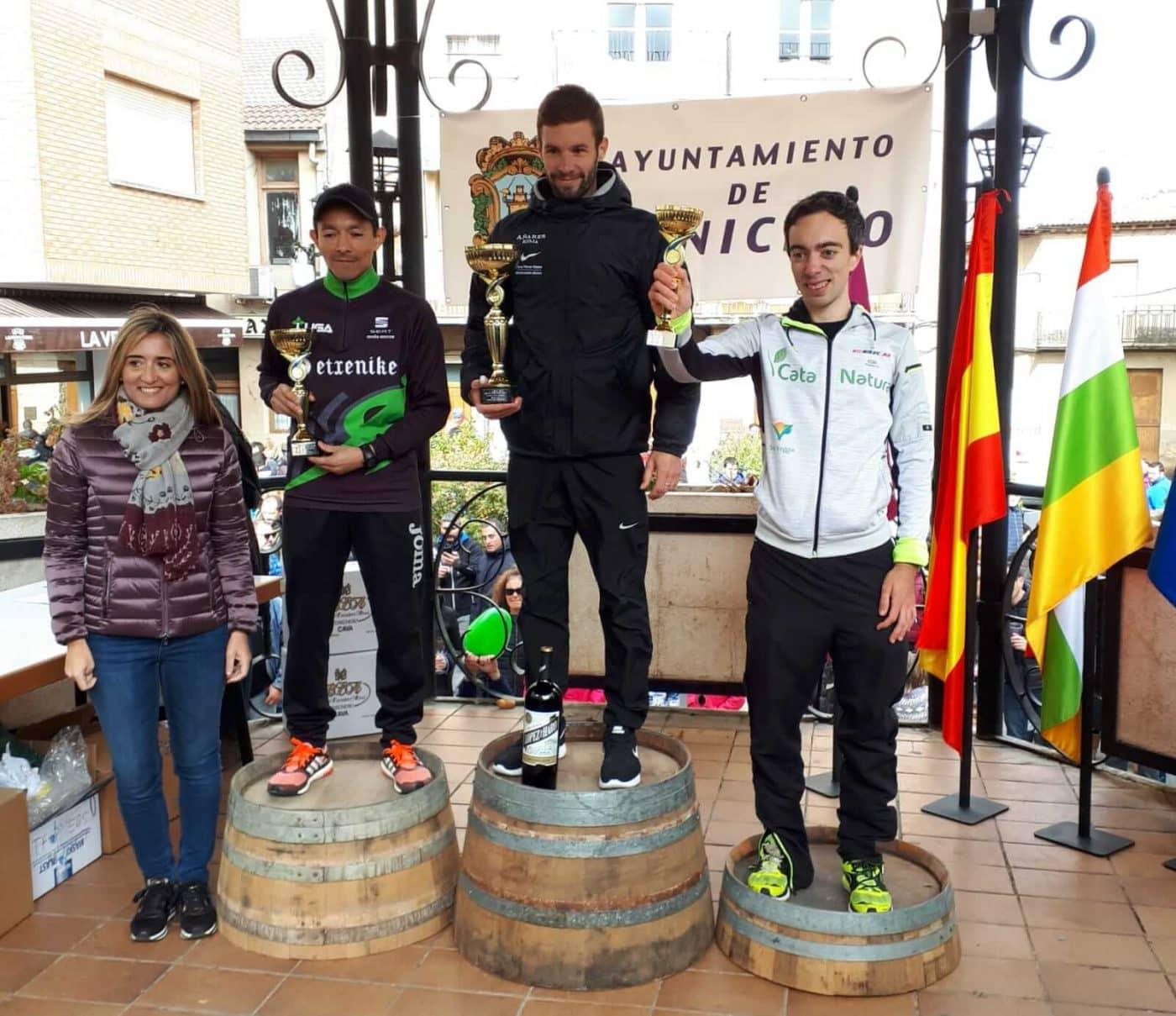 David Martínez y Paula Sanz del Río, ganadores de la Carrera Entre Viñedos Smart 4