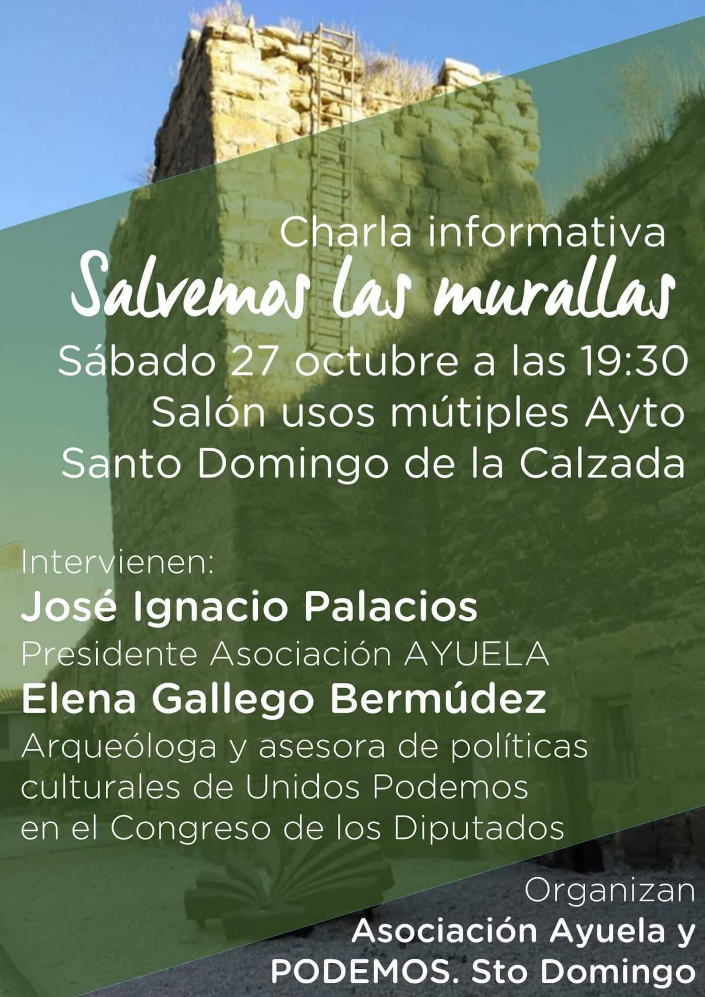 """Este sábado, charla informativa para """"salvar las murallas"""" de Santo Domingo de la Calzada 1"""