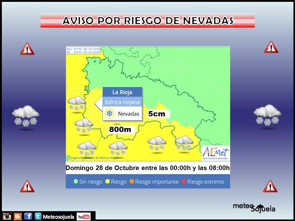 Hasta 12 grados menos y aviso amarillo por nieves en la Ibérica riojana 1