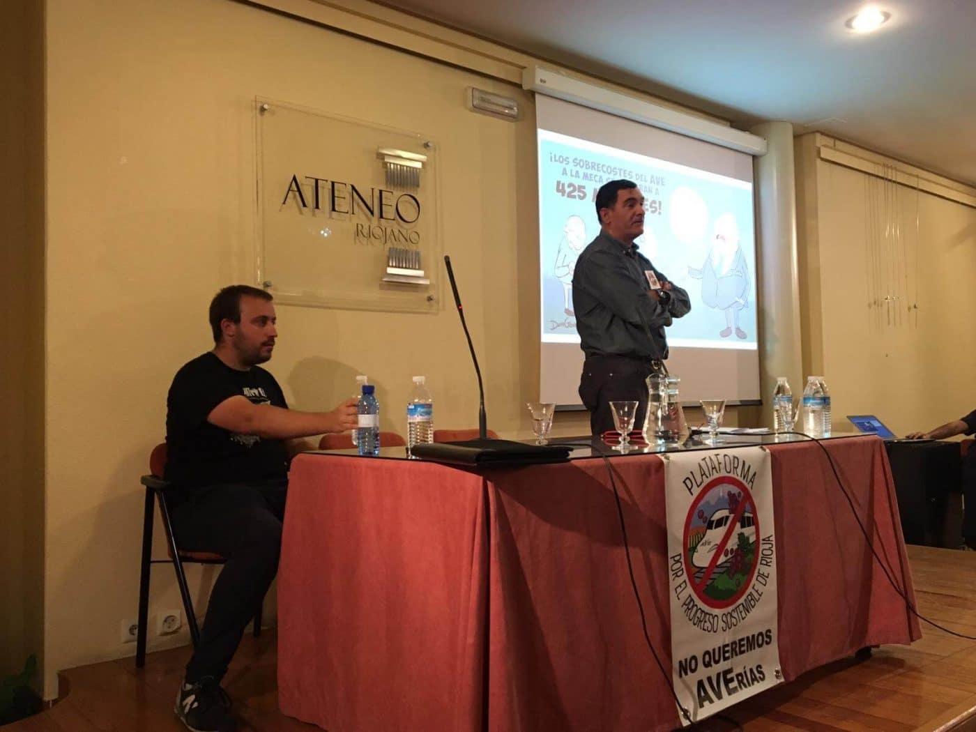 """La Plataforma contra el AVE continúa recabando apoyos en Logroño: """"Es un proyecto insostenible"""" 2"""