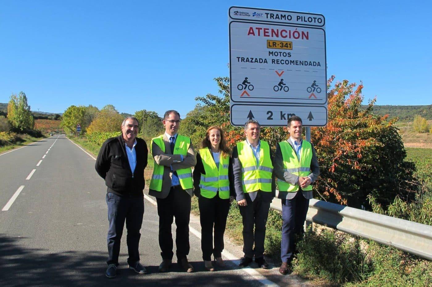 Las carreteras riojanas estrenan un innovador sistema de señalización específico para motoristas 1
