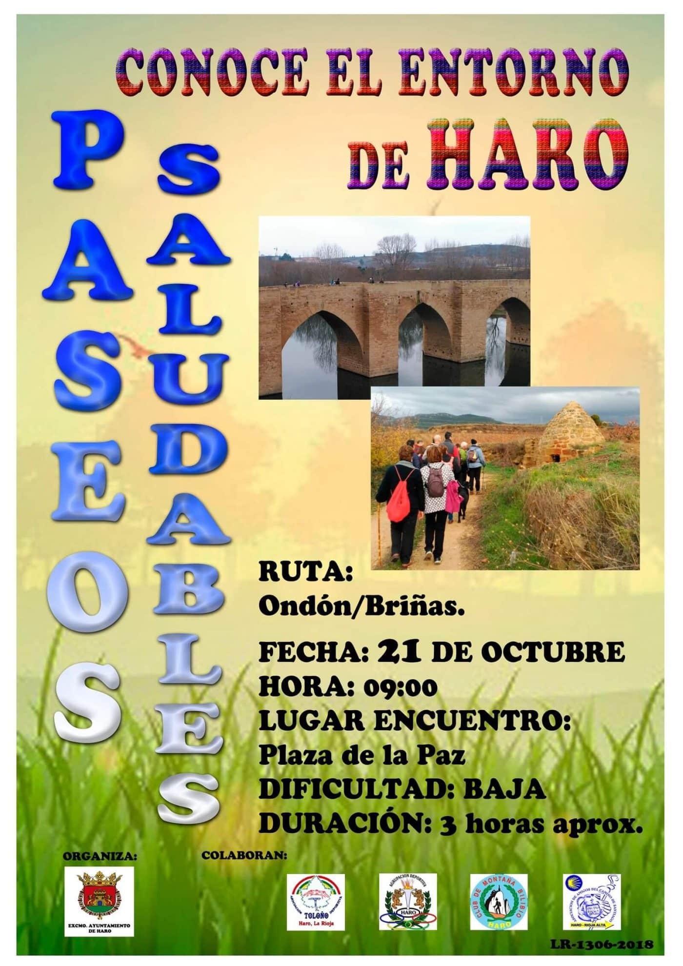 Los Paseos Saludables se reanudan este domingo con una salida por la zona de Ondón y Briñas 1