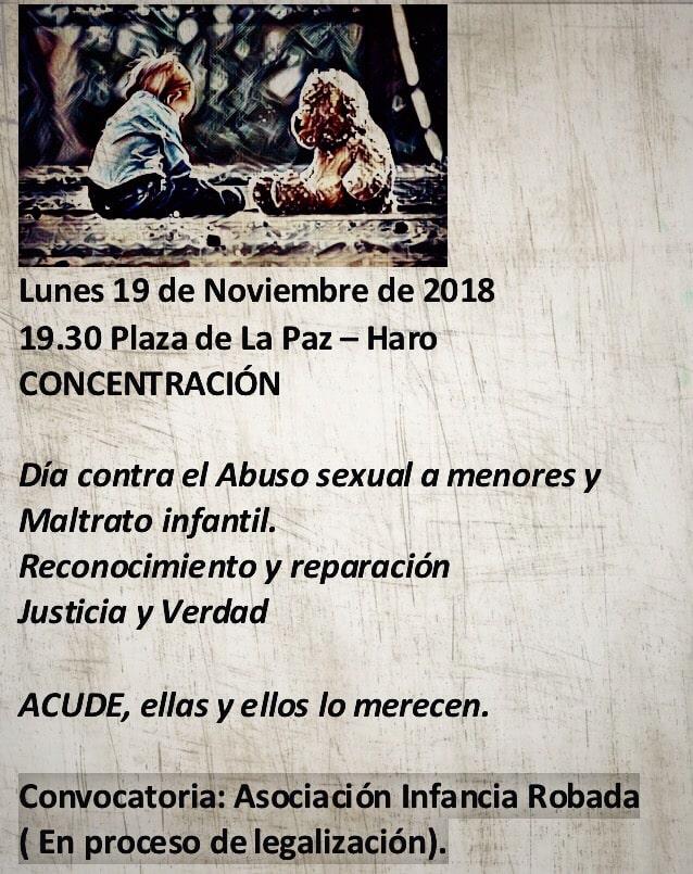 Concentración en Haro el próximo lunes contra el abuso sexual a menores 1