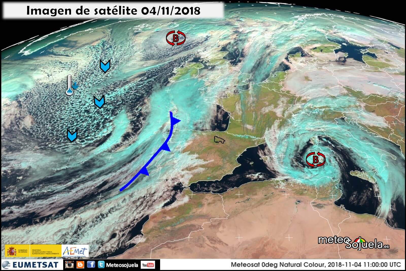 Estampas otoñales en una semana con tiempo revuelto y variable en La Rioja Alta 1