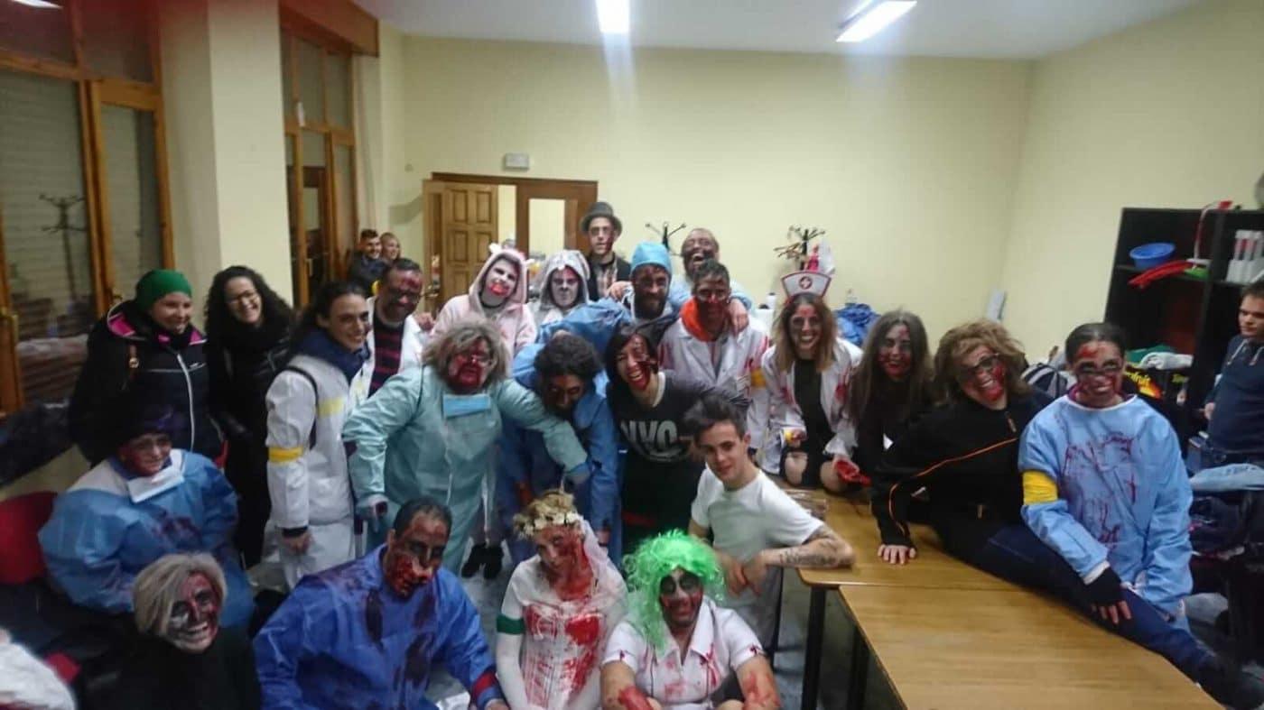 Fonzaleche se transformó en un terrorífico hospital para celebrar Halloween 1
