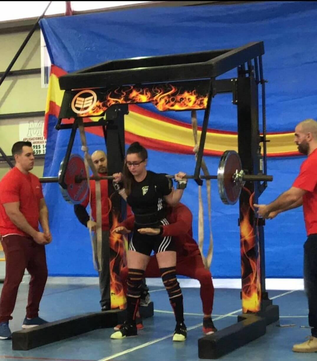 La jarrera Claudia Campino, campeona de España de Powerlifting WPC 1