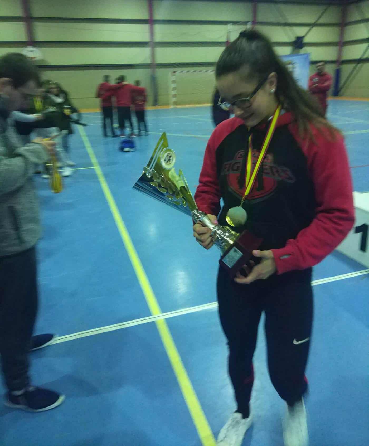 La jarrera Claudia Campino, campeona de España de Powerlifting WPC 2