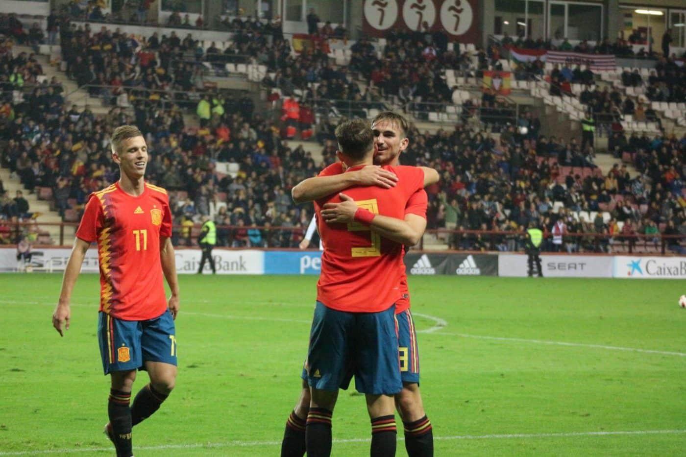 La Sub-21 de Luis de la Fuente remonta y golea en Las Gaunas 21