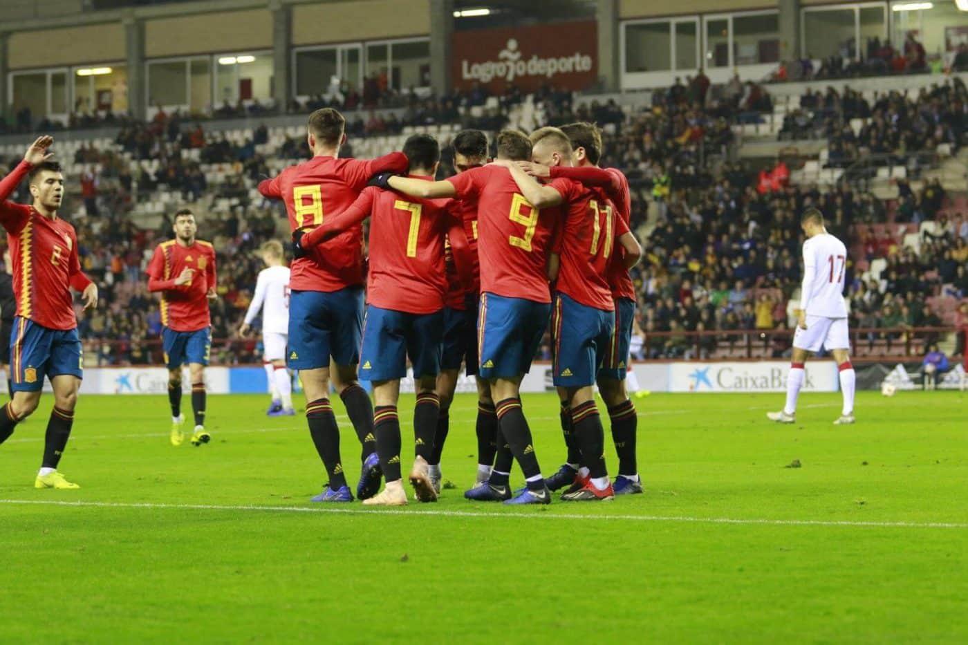 La Sub-21 de Luis de la Fuente remonta y golea en Las Gaunas 24