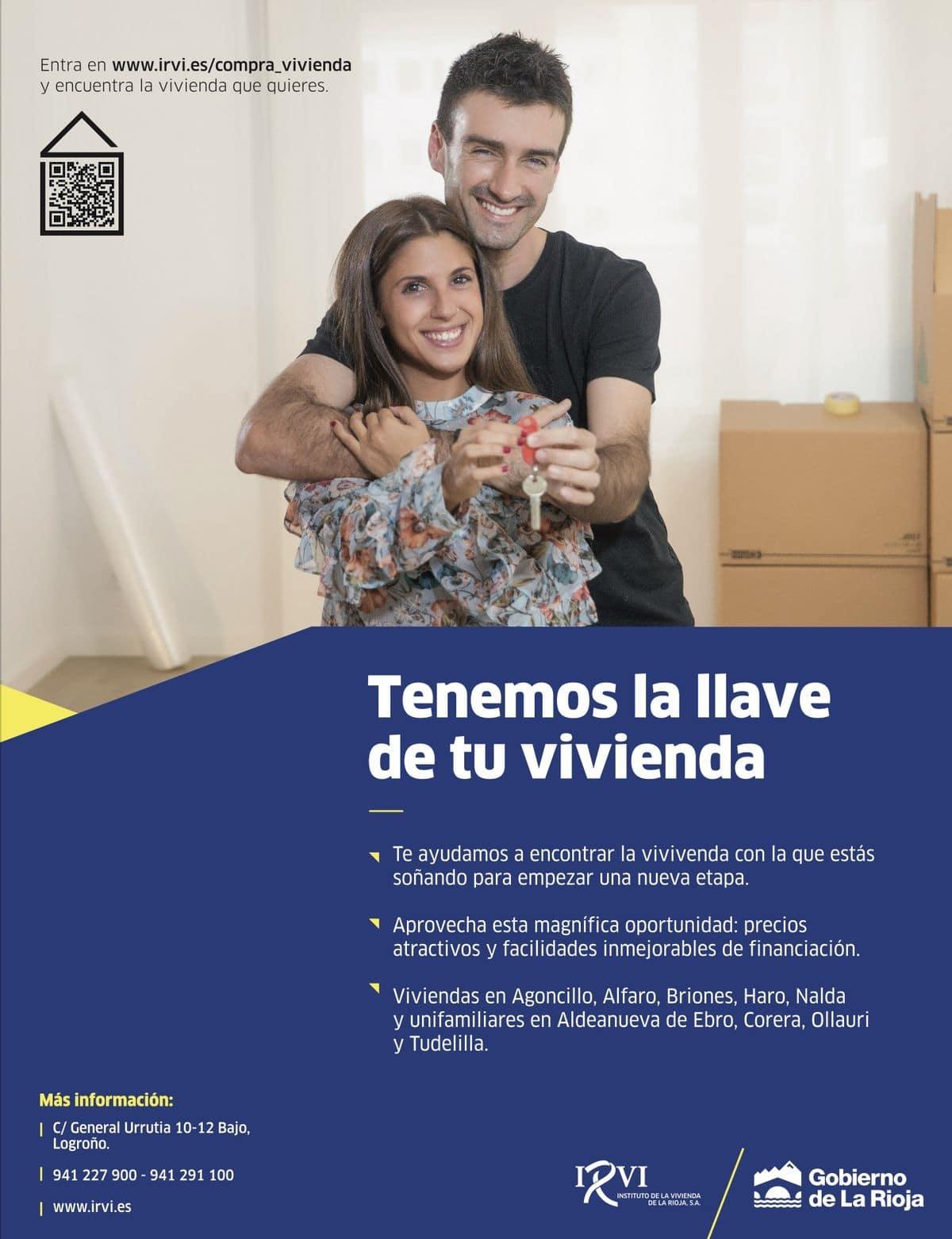 Pisos del IRVI en Haro y en Briones, a partir de 76.552 euros 1