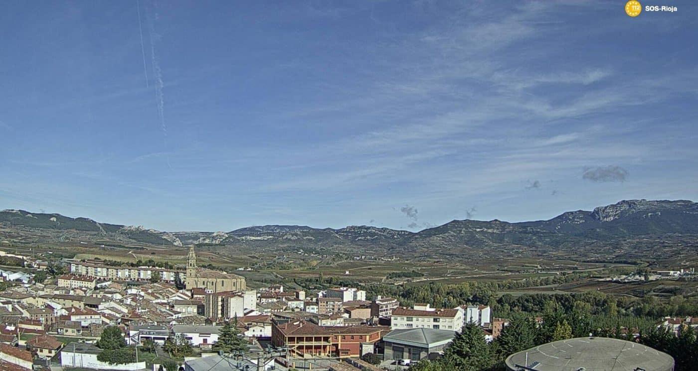 Haro a través de la cámara web de SOS Rioja.