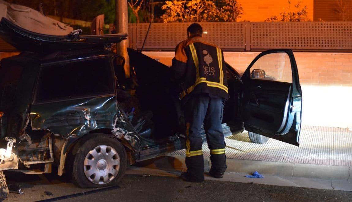 Fallece una persona en una colisión de dos vehículos en Haro 2
