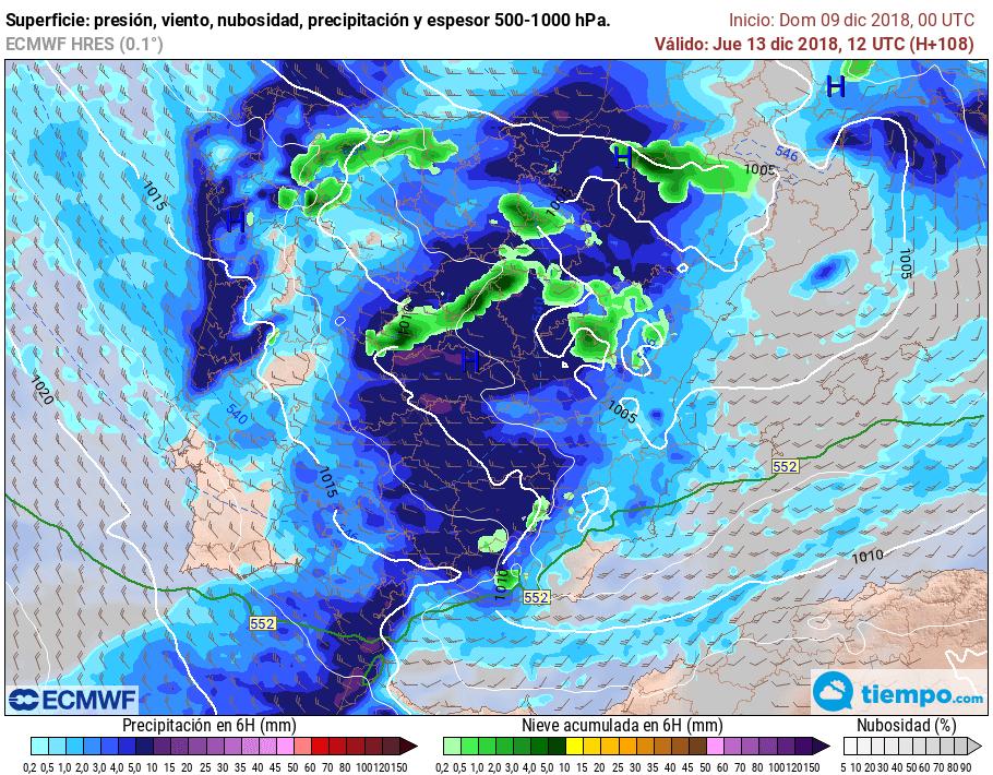 Regresan el frío y las precipitaciones a La Rioja Alta 1