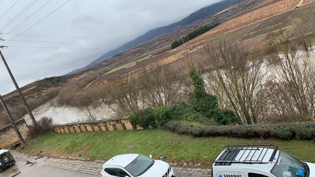 La crecida del Ebro provoca anegamientos en Haro y en Briñas 1