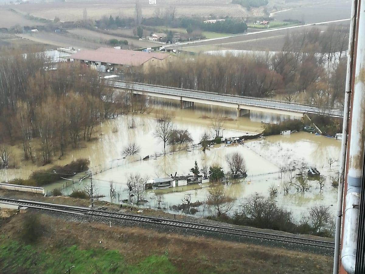 Las obras de emergencia del puente sobre el río Tirón en Haro se retomarán en breve 1