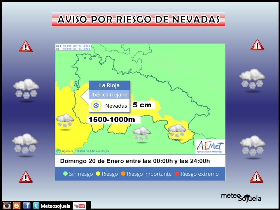 La Rioja amplia el aviso amarillo por riesgo de nevadas en la Ibérica 1