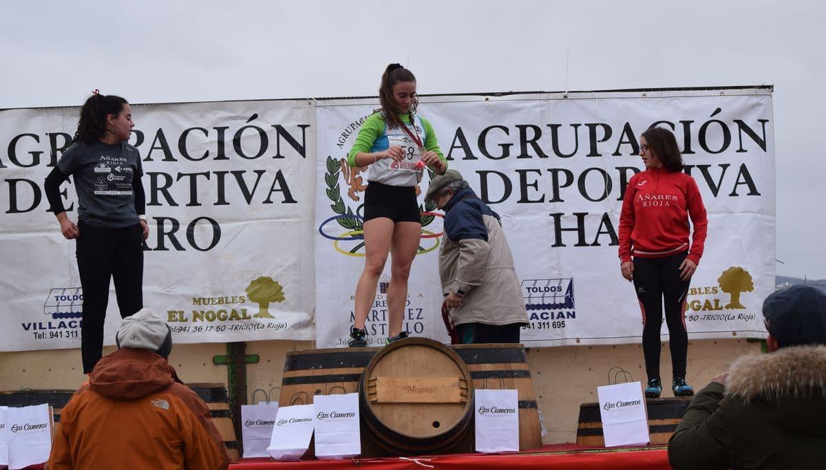 Raquel Miró y Camilo Santiago, ganadores del Cross Ciudad de Haro 1