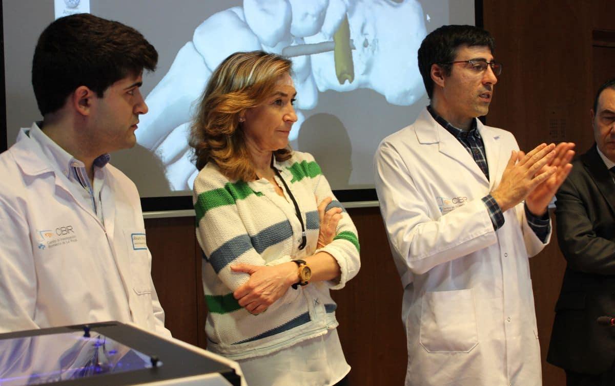 El CIBIR participa en una investigación de prótesis de rodilla en 3D 1