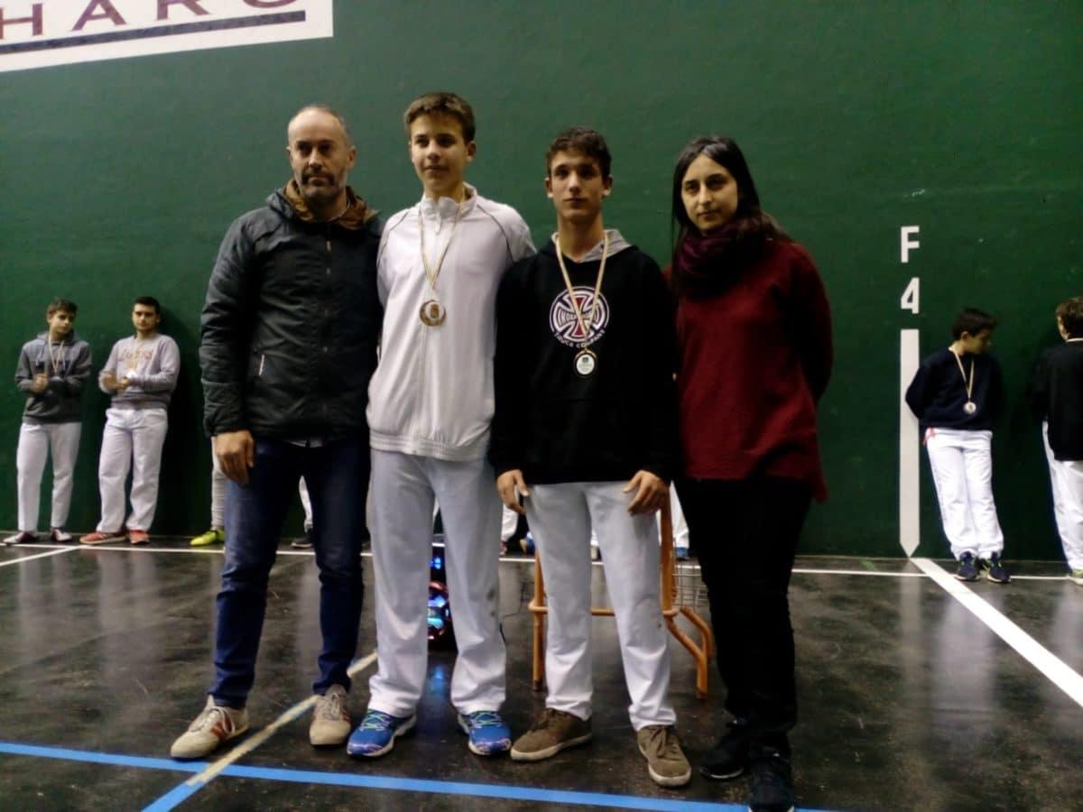 El Club Pelota Haro-Briones se corona como gran campeón autonómico de frontenis 8
