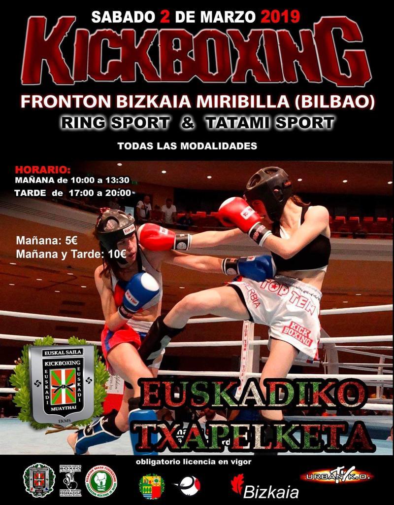 """El jarrero Mikel Sánchez, """"a por todas"""" en el Campeonato de Euskadi de Kickboxing 2"""