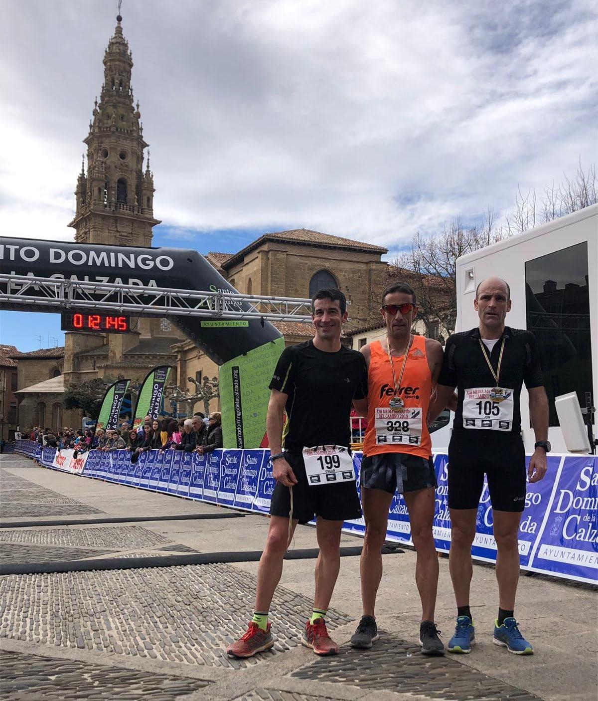 Ángel Martínez y Ane Zabala, vencedores de la XIII Media Maratón del Camino 1