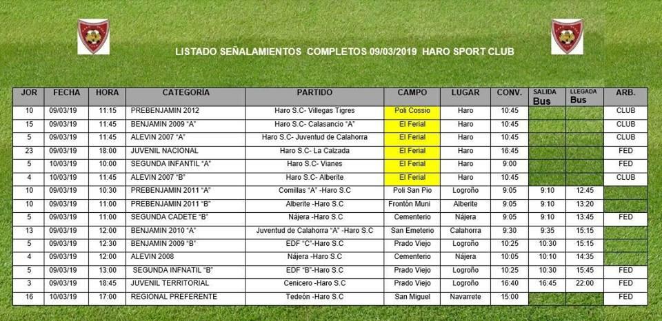 El derbi Haro Sport Club-La Calzada de la liga juvenil, este sábado en El Ferial 2