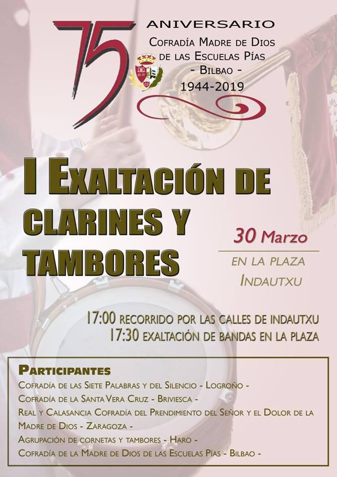 La Agrupación de Cornetas y Tambores de Haro participará en la primera Exaltación de Clarines y Tambores de Bilbao 1
