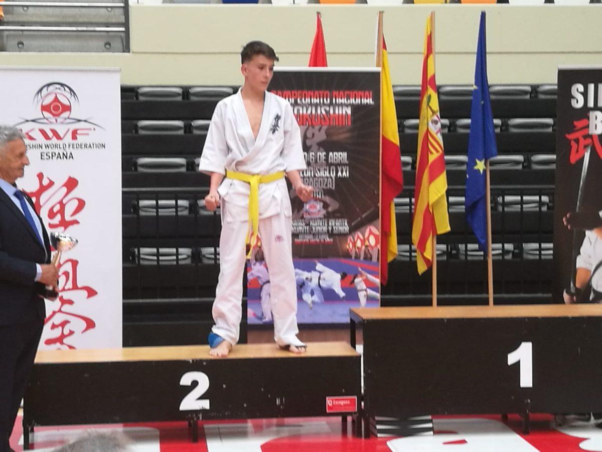 Adrián Para e Iván Olarte suben al podio en el Campeonato de España de Kyokushin 1