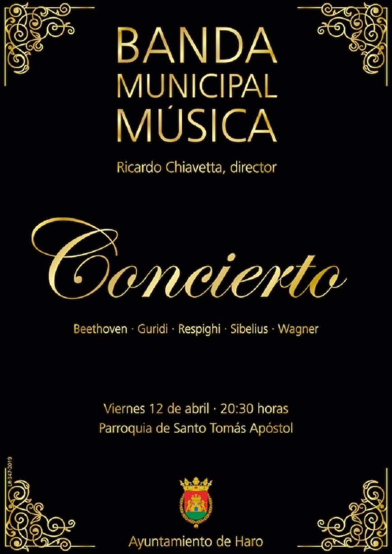 El concierto de la Banda Municipal de Música abre los actos de la Semana Santa en Haro 1