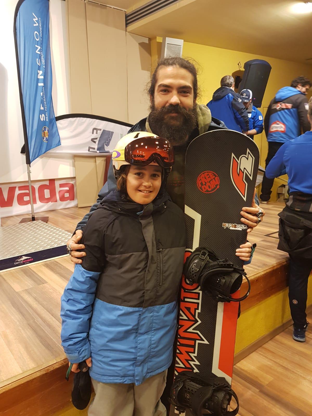 El jarrero Samuel Capellán, subcampeón de España de Snowboard en Sierra Nevada 1