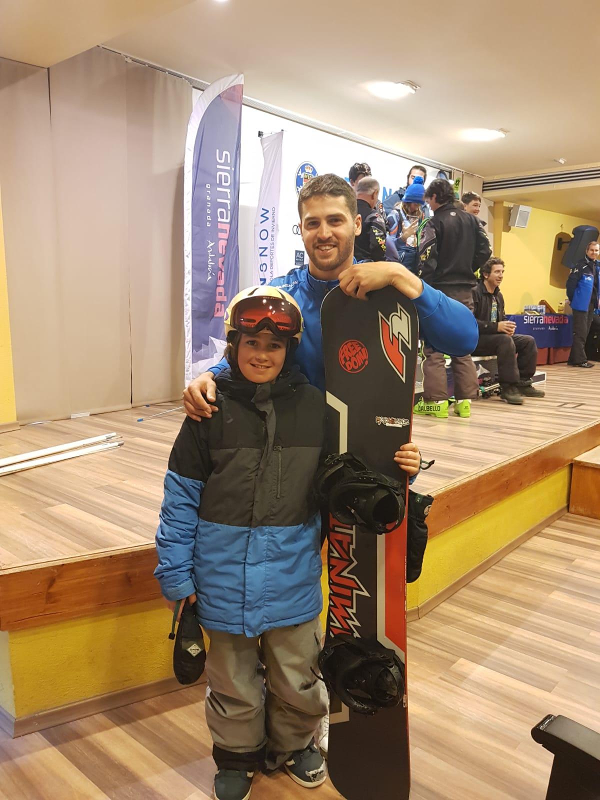 El jarrero Samuel Capellán, subcampeón de España de Snowboard en Sierra Nevada 2